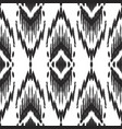 tribal ikat pattern in black and white colors vector image vector image