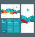 trifold leaflet business brochure folded vector image