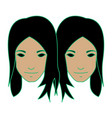Twin girl as gemini vector image