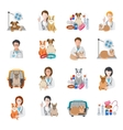 Veterinary Icon Flat vector image vector image