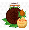 welcome to india card vector image vector image