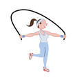 woman doing aerobics vector image vector image