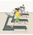 women at gym vector image vector image