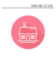house and home thin line icon outline decorated vector image
