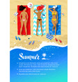 seaside vacation design vector image