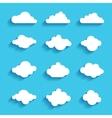 clouds sky heaven icon symbol label logo sign vector image