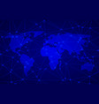 abstract background with net world map vector image
