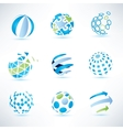 Abstract globe symbol setcommunication and