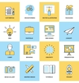 Advertising Flat Line Icons vector image