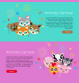 animals carnival collection of face masks for vector image