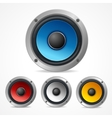 Audio Speaker Set vector image vector image