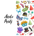 background masks and party accessories vector image vector image