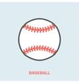 Baseball softball line icon Ball logo vector image vector image