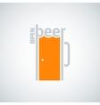 beer mug door concept background vector image