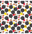 cartoon bombs seamless pattern vector image