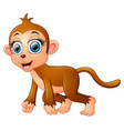 cartoon funny monkey vector image vector image