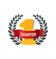 Champion number one background vector image vector image