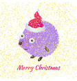 christmas hedgehog vector image