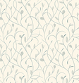 clear floral blue on biege seamless pattern vector image
