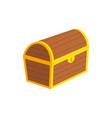 closed treasure chest flat vector image vector image