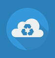 Cloud Computing Flat Icon Recycle vector image vector image