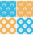 Cottage pattern set colored vector image vector image
