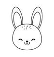 cute rabbit woodland character vector image vector image