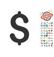 Dollar Icon With 2017 Year Bonus Symbols vector image vector image