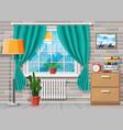domestic room interior vector image vector image
