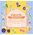 Farm equipment elements on background poster in vector image