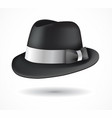 fedora hat isolated on white vector image vector image