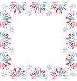 Firework on white vector image vector image