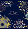 fireworks background with vector image vector image