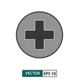 first aid medical icon isolated on white eps 10 vector image vector image