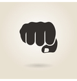 fist icon vector image vector image
