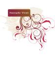 floral banner design vector image vector image