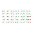 followers number emblem set number of vector image vector image