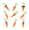 funny carrot - isolated cartoon emoticons vector image vector image