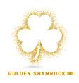 golden shamrock vector image
