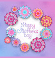 greeting card with flowers for mothers day in the vector image