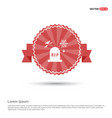 halloween grave icon - red ribbon banner vector image