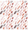 hand drawn autumn floral seamless pattern modern vector image vector image