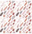Hand drawn autumn floral seamless pattern modern