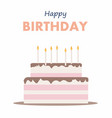 happy birthday cake card birthday party elements vector image vector image