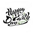 happy earth day 2 vector image
