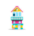 house made of books for kids education concept vector image vector image