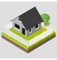 Isometric 3D icon Pictograms house with a white vector image vector image