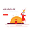 life insurance - colorful flat design style web vector image vector image