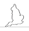 map of england continous line vector image vector image