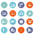 Media icons flat set vector image vector image